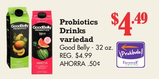 Probiotics Drinks Variedad Good Belly - 32 oz