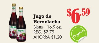 Jugo de Remolacha Biotta