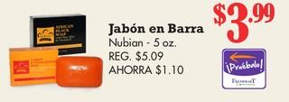 Jabón en Barra Nubian