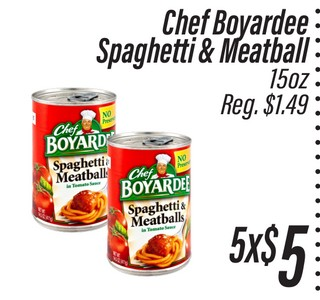 Chef Boyardee Spaguetti & MeatBall