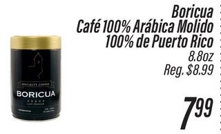 Boricua Café 100% Arábica Molido
