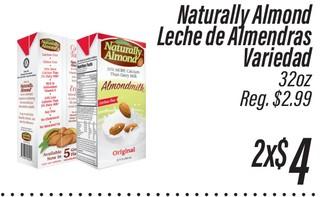 Naturally Alomdo Leche de Almendras