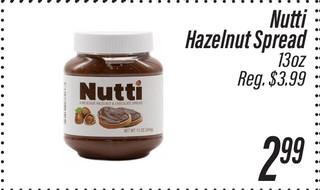Nutti Hazelnut Spread