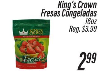 King´s Crown Fresas Congeladas