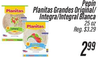 Pepín Planitas Grandes Original/Integral/Integral Blanca
