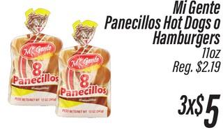 Mi Gente Panecillos Hot Dog o Hamburgers