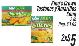 King´s Crown Tostones y Amarillos Cong