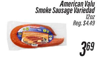American Valu Smoke Sausage Variedad
