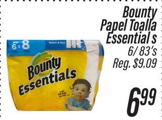 Bounty Papel Toalla Essentials