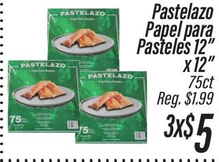 "Pastelazo Papel Para Pasteles 12"" x 12"""