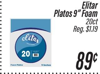 "Elitar Platos 9"" Foam"
