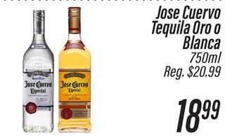 Jose Cuervo Tequila Oro o Blanco