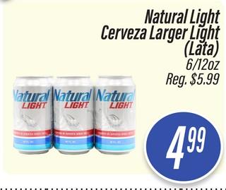 Natural Light Cerveza Larger