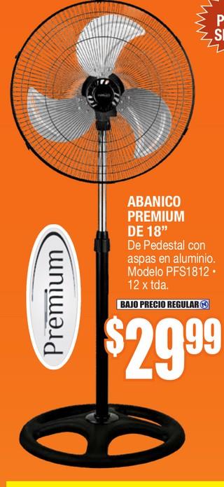 """Abanico Premium de 18"""""""