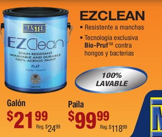 EzClean Resistente a Manchas