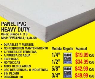 Panel PVC Heavy Duty