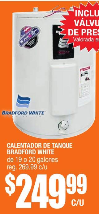 Calentador de Tanque Bradford White