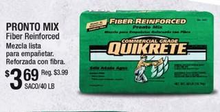 Pronto Mix Fiber Reinforced Mezcla Lista para Empañetar
