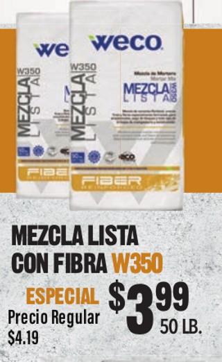 Mezcla Lista con Fibra W350