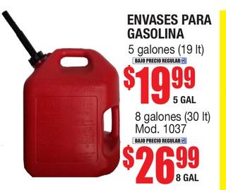 Envases para Gasolina