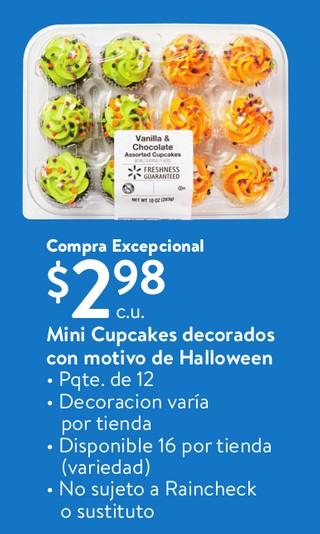 Mini Cupcake decorados con motivo de Halloween
