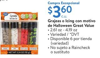 Grajeas o Icing con motivo de Halloween Great Value