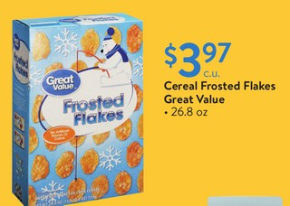 Cereal Frosted Flakes Great Value