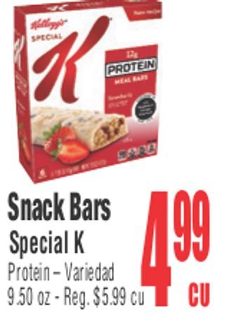 Snacks Bars Special K