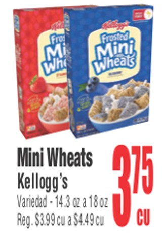 Mini Wheats Kellogg's