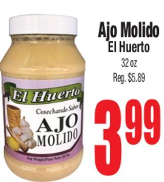 Ajo Molido El Huerto