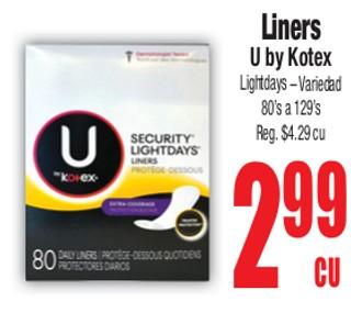 Liners U By Kotex