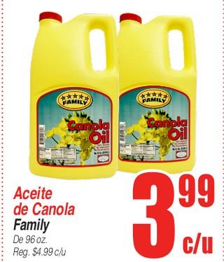 Aceite De Canola Family