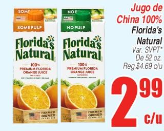 Jugo de China 100% Florida's Natural