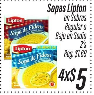 Sopas Lipton