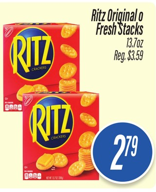 Ritz Original o Fresh Stacks
