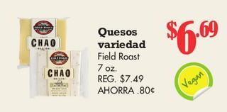 Quesos Variedad Field Roast 7 oz