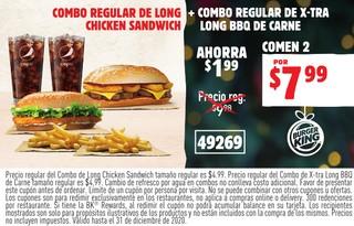 Combo Regular De Long Chicken Sandwich
