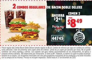2 Combos Regulares de Bacon Doble Deluxe
