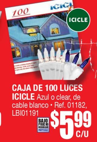 Caja de 100 Luces Icicle