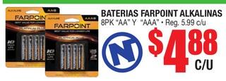 Baterias Farpoint Alkalinas