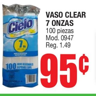 Vaso Clear 7 Onzas