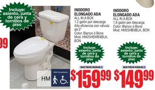 Inodoro Elongado Ada