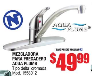 Mezcladora Para Fregadero Aqua Plumb
