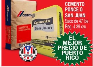 Cemento Ponce o San Juan