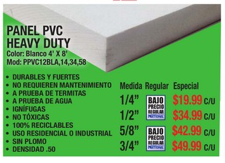 PANEL PVC HEAVY DUTY