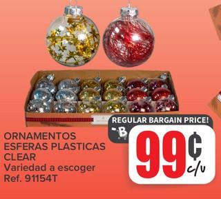 Ornamentos Esferas Plasticas Clear