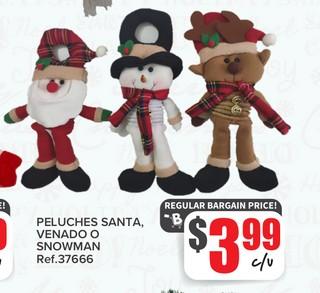 Peluche Santa Venado o Snowman