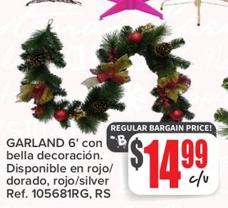 Garland 6' con Bella Decoracion