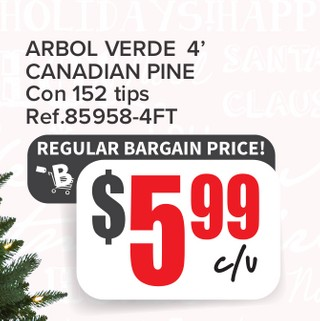 Arbol Verde 4' Canadian Pine