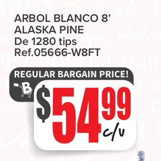 Arbol Blanco Alaska Pine De 1280 tips
